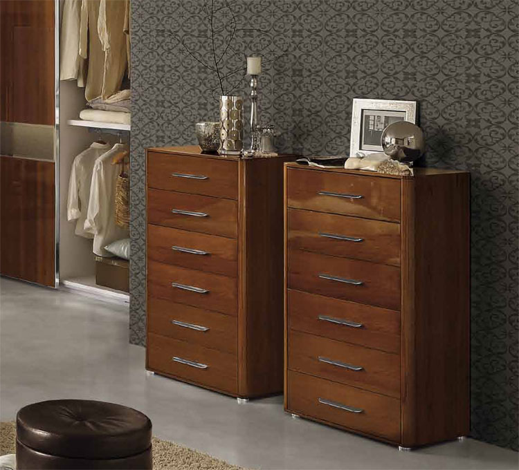hoch kommode 6 schubladen stil m bel italien nussbaum. Black Bedroom Furniture Sets. Home Design Ideas