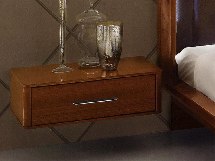 nachttisch 1 schublade italien nussbaum hochglanz nussbaum. Black Bedroom Furniture Sets. Home Design Ideas